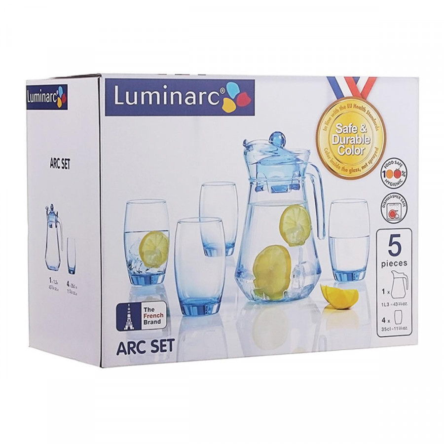 Bộ Bình Ly Thủy Tinh Luminarc 5 Món Arc Ice Blue L0535 - 1867338 , 3919580475948 , 62_14167031 , 245000 , Bo-Binh-Ly-Thuy-Tinh-Luminarc-5-Mon-Arc-Ice-Blue-L0535-62_14167031 , tiki.vn , Bộ Bình Ly Thủy Tinh Luminarc 5 Món Arc Ice Blue L0535