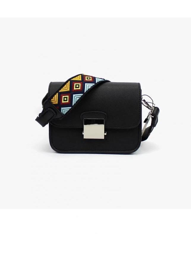 Túi xách thời trang nữ đeo chéo 2 dây đeo KNT SARAS (màu đen)