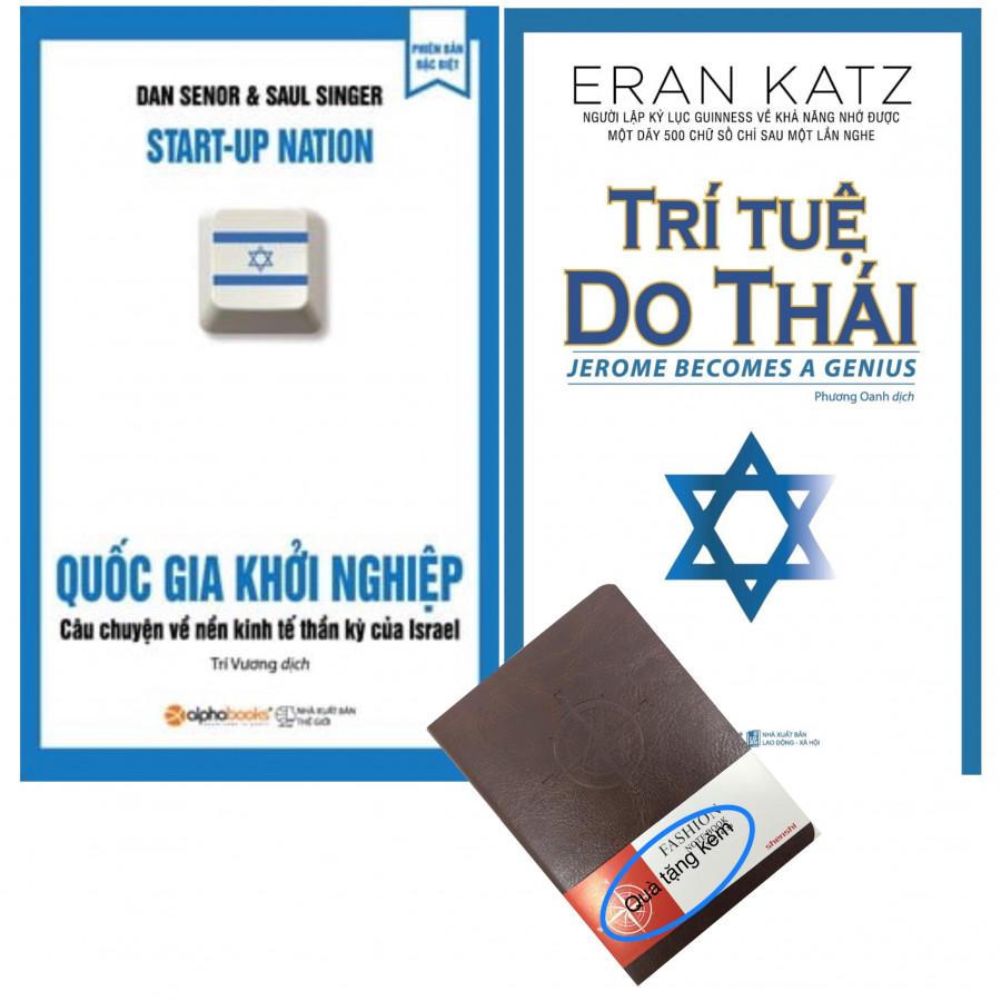 Combo Quốc Gia Khởi Nghiệp, Trí Tuệ Do Thái (tặng kèm sổ tay da)