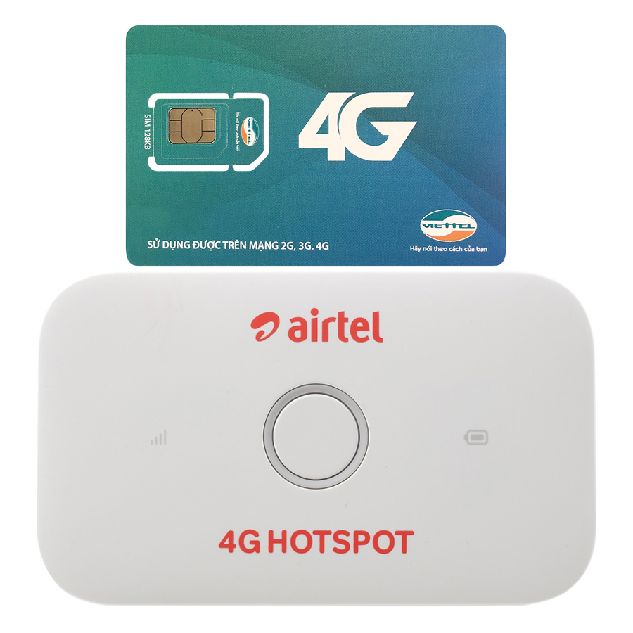 Bộ Phát Wifi Di Động Huawei E5573Cs-609 4G 150Mbps - Hàng Nhập Khẩu + Sim 3G/4G Viettel 9GB/Tháng