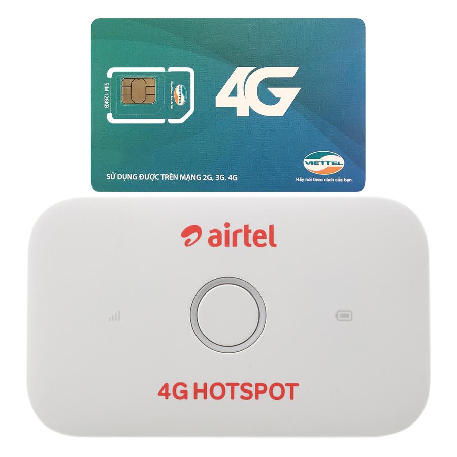 Bộ Phát Wifi Di Động Huawei E5573Cs-609 4G 150Mbps - Hàng Nhập Khẩu + Sim 3G/4G Viettel 7GB/Tháng Trọn Gói 12 Tháng (Không...