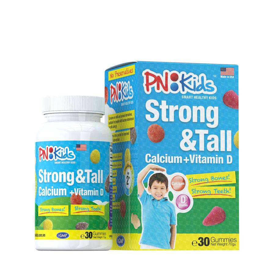 Kẹo gummies PNKids Strong  Tall - Phát triển chiều cao (30 viên)