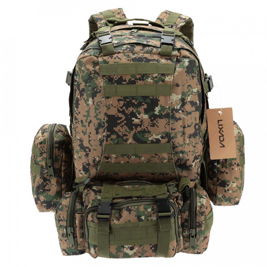 Lixada Outdoor Multifunction Military Tactical Backpack with MOLLE Webbings Rucksack Sports Camping Travel Hiking Bag - 1956744 , 6300344889540 , 62_14333119 , 786000 , Lixada-Outdoor-Multifunction-Military-Tactical-Backpack-with-MOLLE-Webbings-Rucksack-Sports-Camping-Travel-Hiking-Bag-62_14333119 , tiki.vn , Lixada Outdoor Multifunction Military Tactical Backpack wit