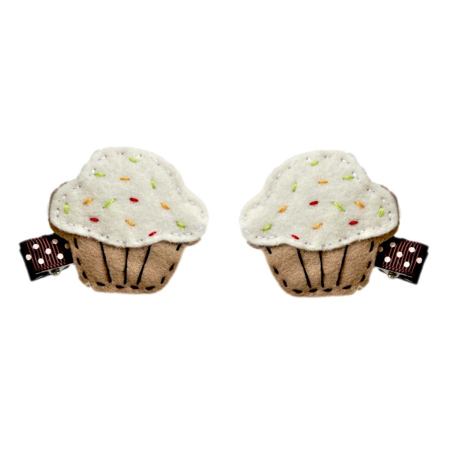 Kẹp Tóc Cupcake Cho Bé Latin Handmade LT376W