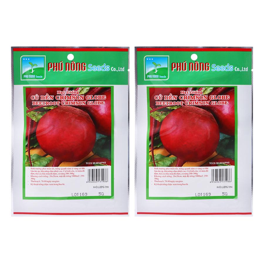 Bộ 2 Gói Hạt Giống Củ Dền Crimson Globe Phú Nông (5g / Gói) - 898642 , 2604347391562 , 62_1684793 , 60000 , Bo-2-Goi-Hat-Giong-Cu-Den-Crimson-Globe-Phu-Nong-5g--Goi-62_1684793 , tiki.vn , Bộ 2 Gói Hạt Giống Củ Dền Crimson Globe Phú Nông (5g / Gói)
