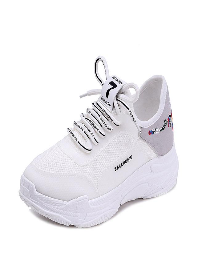 Giày sneaker Nữ thêu hoa tinh tế - XS0531