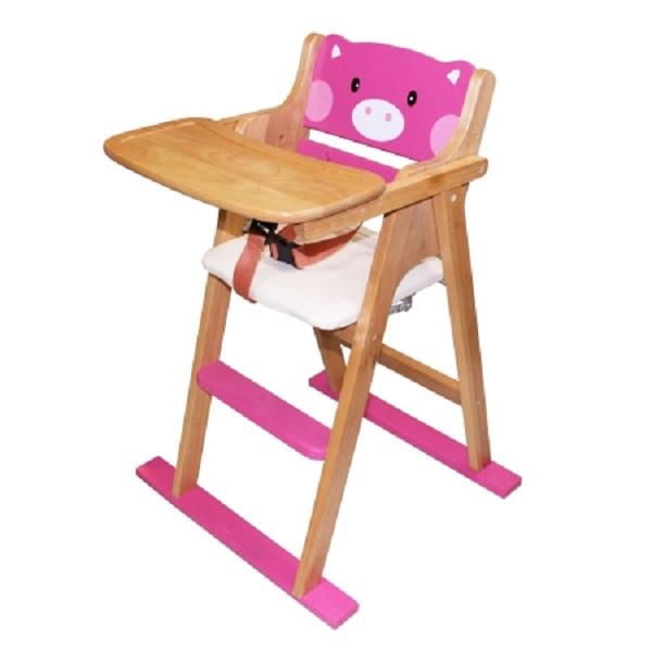 Ghế gỗ hình thú (Màu hồng)