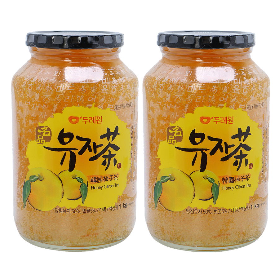Combo 2 chai Mật Ong Chanh Hàn Quốc Korea Natural Food Honey Citron Tea 1Kg