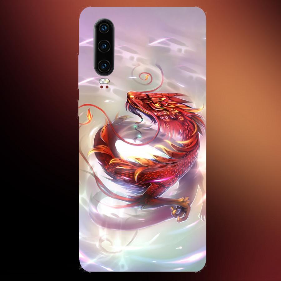 Ốp Lưng Dành Cho Máy Huawei P30 -Ốp Dẻo Cao Cấp In Hình Rồng,Mẫu ốp mới Cao Cấp