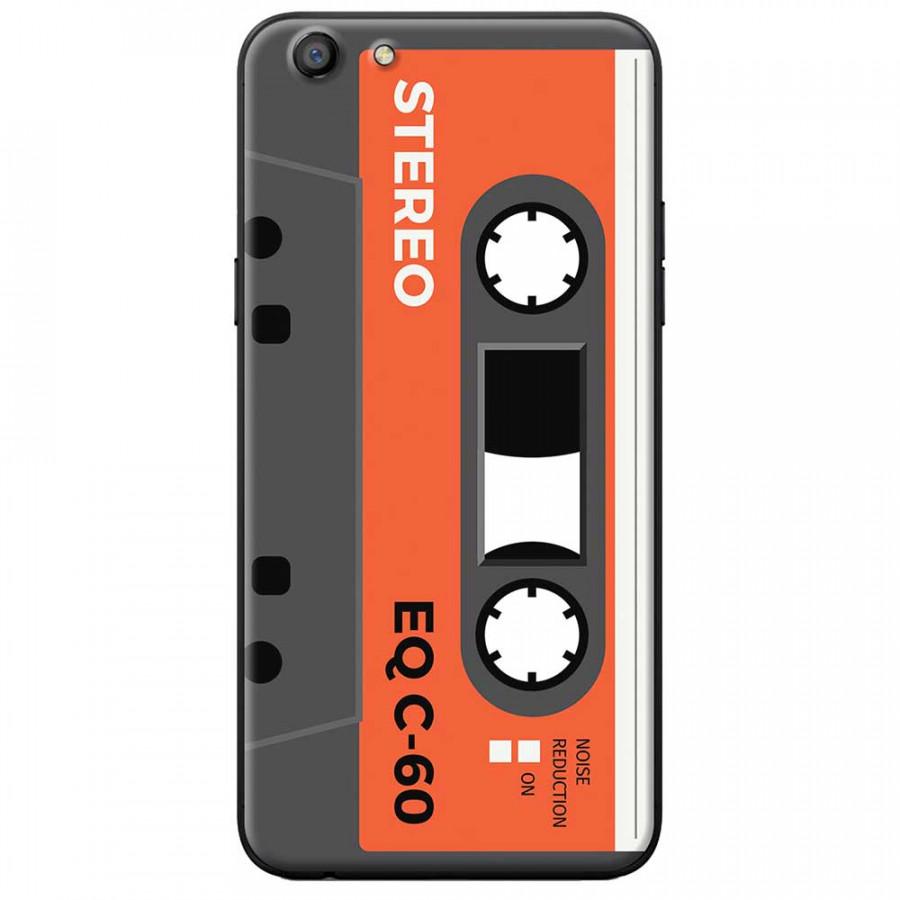 Ốp lưng dành cho Oppo A71 mẫu Cassette xám cam