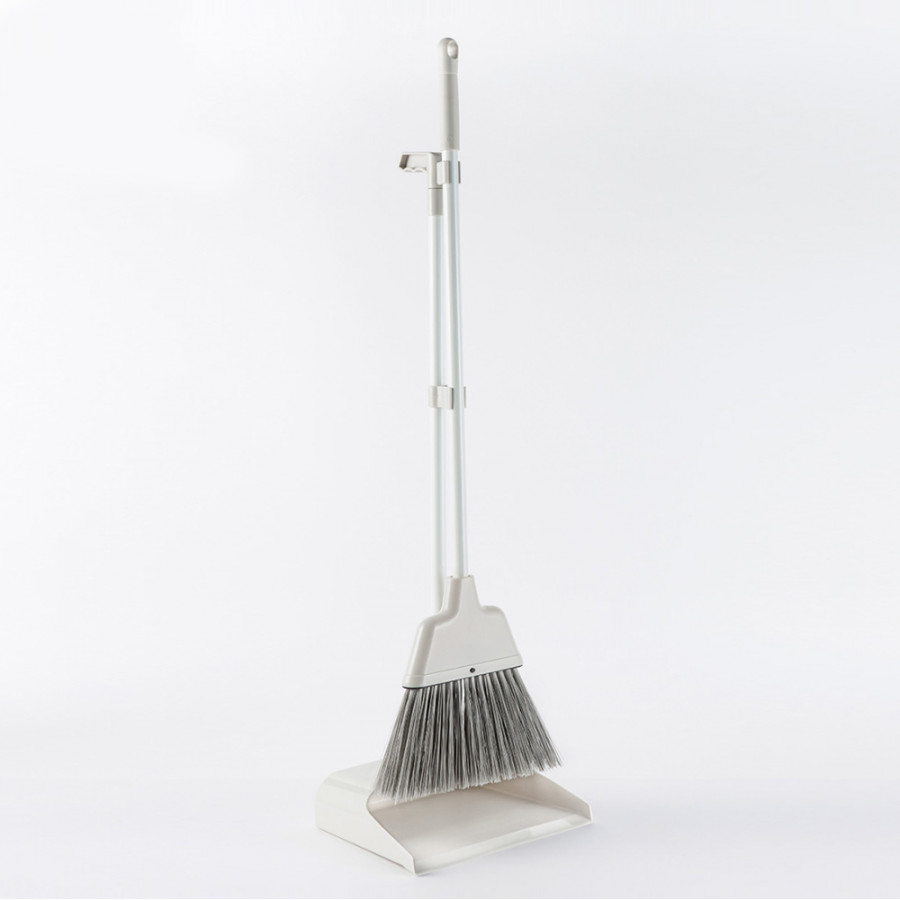 2 pcs/Set Xiaomi Jiezhi Broom Holder Set Plastic Dustpan Soft Bristle Broom Thicken Household Sweep Floor
