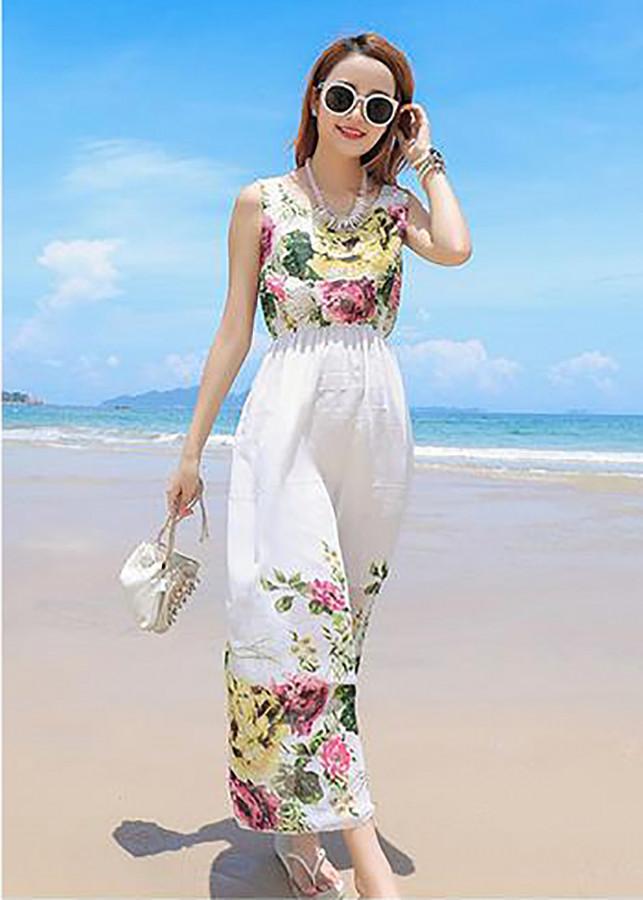 Váy đầm maxi voan dạo chơi, đi biển - Mã 33