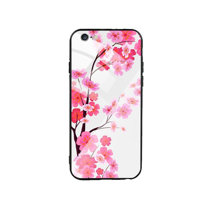 Ốp Lưng Kính Cường Lực cho điện thoại Iphone 6 Plus / 6s Plus - Cherry Blossom 02