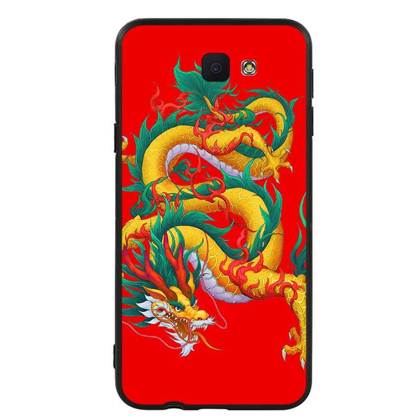 Ốp lưng viền TPU cho điện thoại Samsung Galaxy J5 Prime - Dragon 09