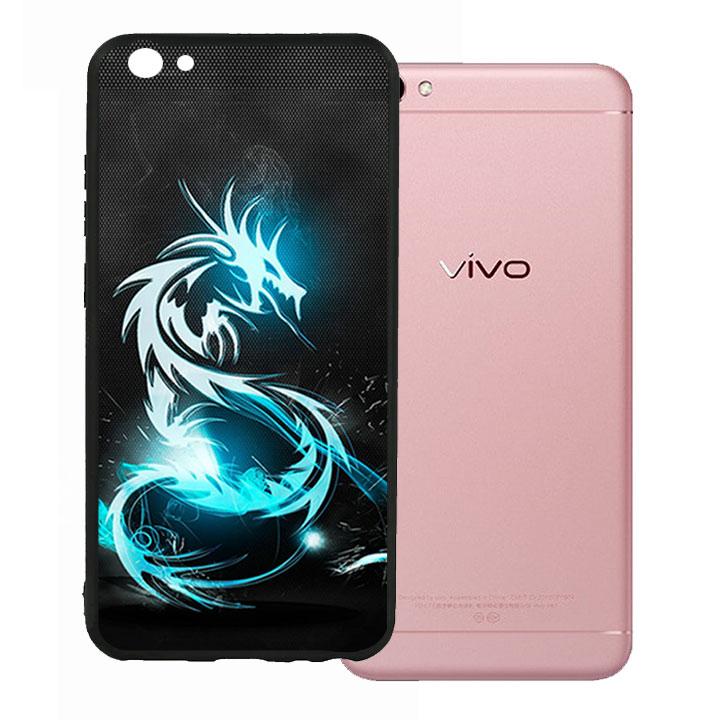 Ốp lưng viền TPU cho Vivo V5 - Dragon 03