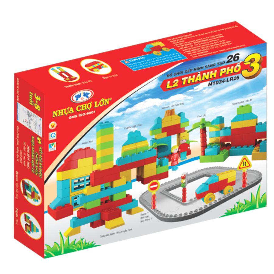 Bộ đồ chơi xếp hình sáng tạo 26 (L2-Thành Phố 3) - M1034-LR