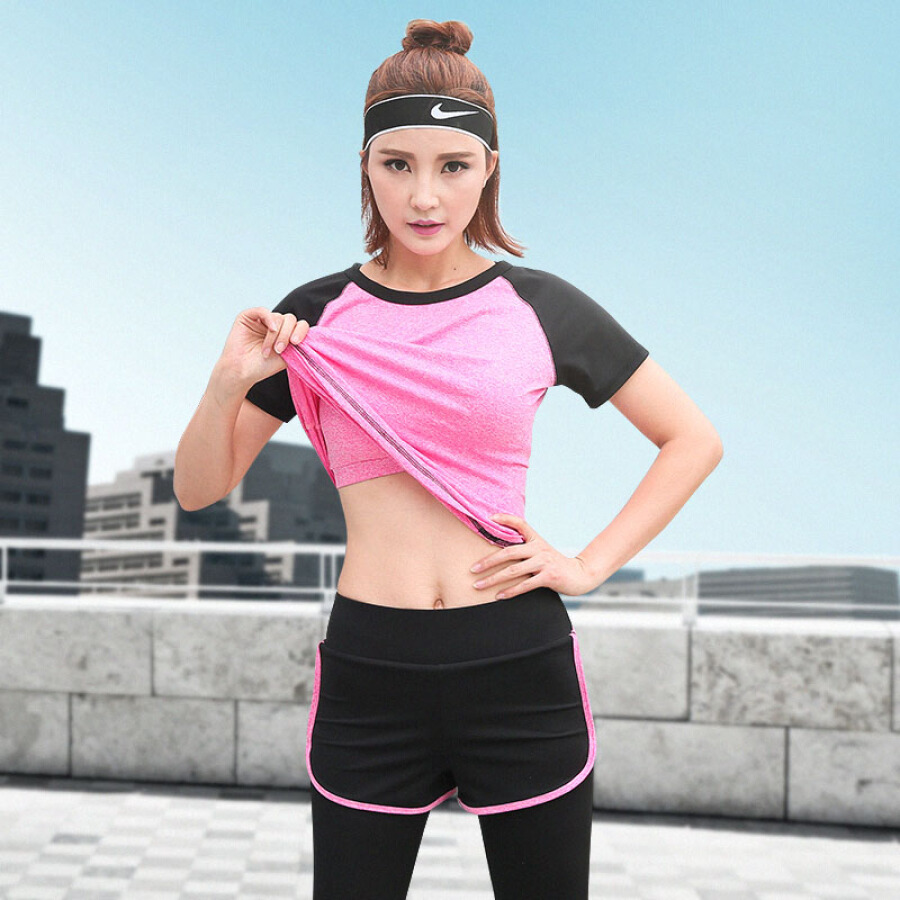 Trend holiday yoga clothes fitness clothes ladies three-piece running sports suit female autumn quick-drying suit YD20199-black spell pink -... - 1908910 , 2700754069503 , 62_10257455 , 379000 , Trend-holiday-yoga-clothes-fitness-clothes-ladies-three-piece-running-sports-suit-female-autumn-quick-drying-suit-YD20199-black-spell-pink-...-62_10257455 , tiki.vn , Trend holiday yoga clothes fitness