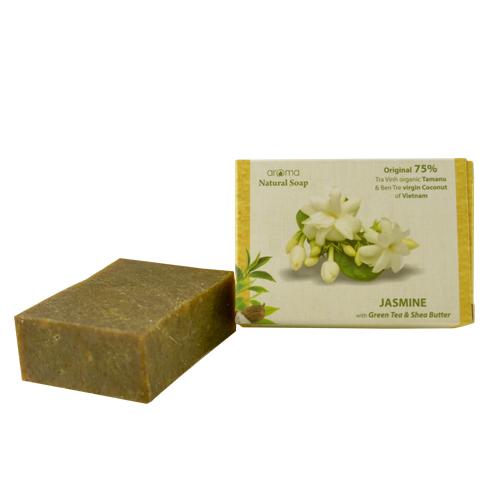 Xà phòng tinh dầu Aroma - Jasmine  GreenTea #So-JasGre (100gr)