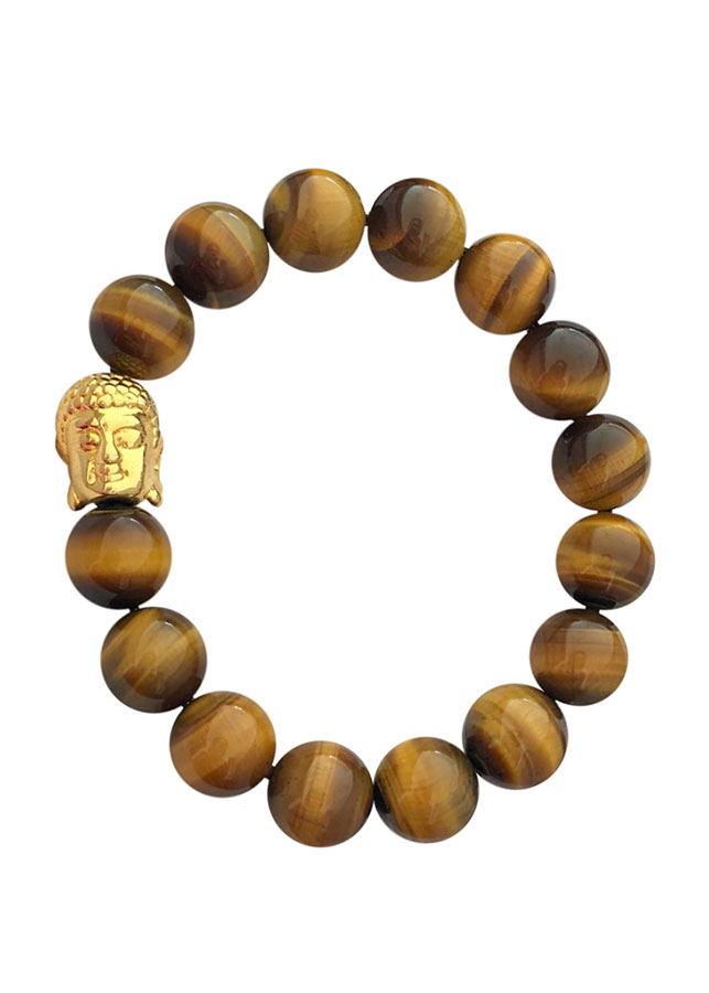 Vòng tay phong thủy đá mắt hổ vàng MS68