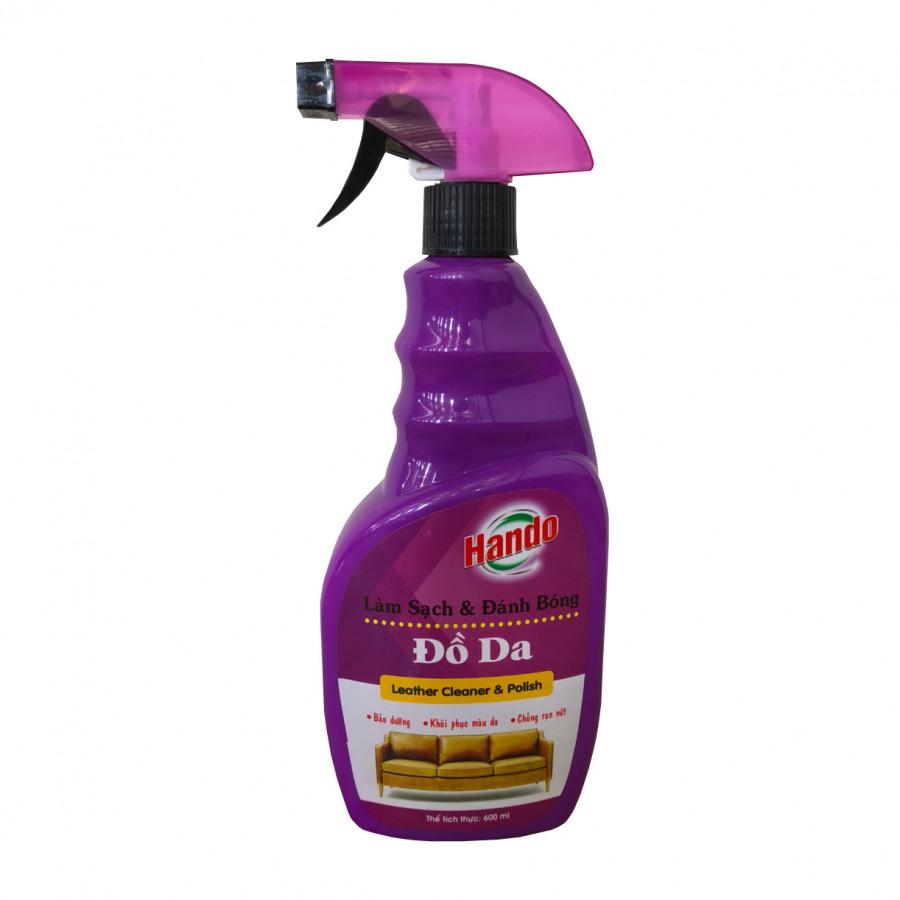 Chai xịt làm sạch và đánh bóng đồ da Hando 600ml