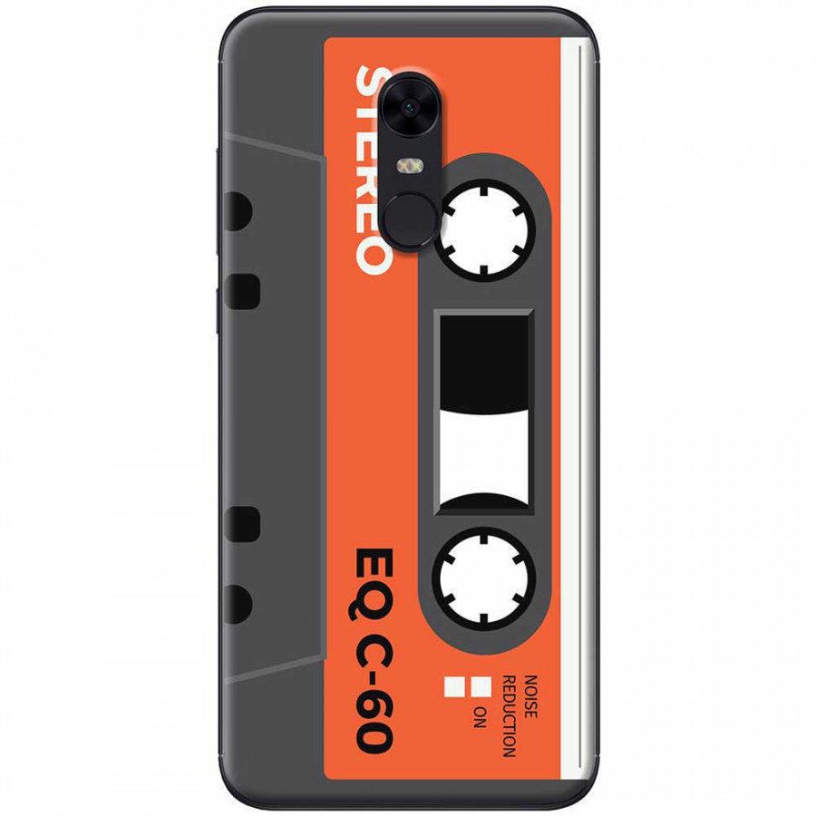 Ốp lưng dành cho Xiaomi Redmi 5 mẫu Cassette xám cam