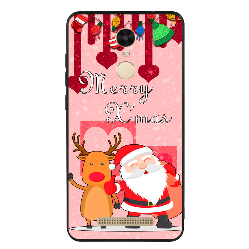 Ốp lưng viền TPU cho điện thoại Xiaomi Redmi Note 3 - Xmas 04