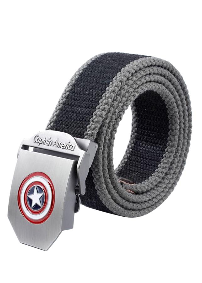 Thắt Lưng Vải Dù Nữ Mặt Khoá Hợp Kim Mặt Captain America - Màu 12