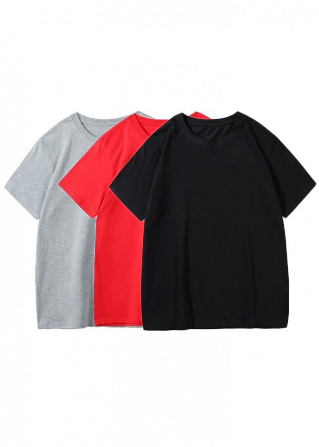 Combo 3 áo thun trơn nữ form rộng Zavans (Đen, Xám, Đỏ)