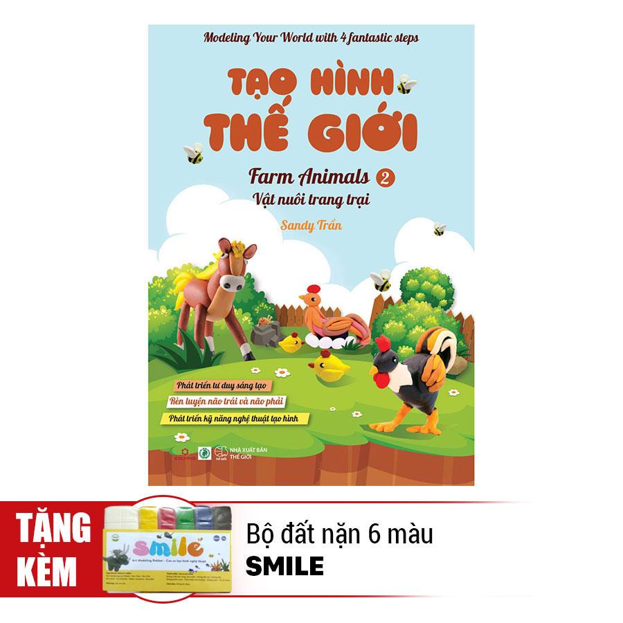 Tạo Hình Thế Giới - Vật Nuôi Trang Trại 2 (Kèm 1 Bộ Đất Nặn 6 Màu Smile) - 891382 , 6397800931363 , 62_1563949 , 48000 , Tao-Hinh-The-Gioi-Vat-Nuoi-Trang-Trai-2-Kem-1-Bo-Dat-Nan-6-Mau-Smile-62_1563949 , tiki.vn , Tạo Hình Thế Giới - Vật Nuôi Trang Trại 2 (Kèm 1 Bộ Đất Nặn 6 Màu Smile)