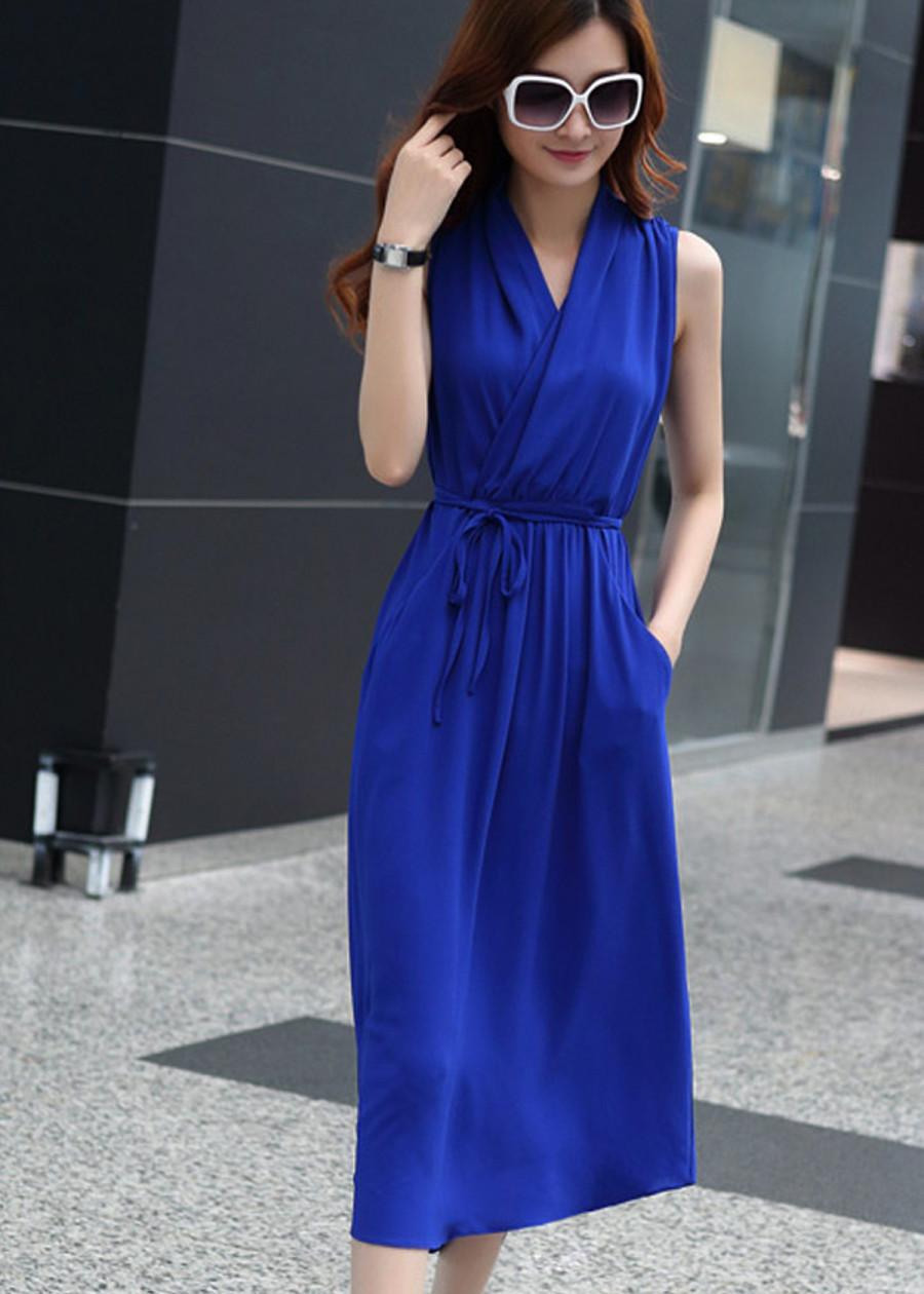 Đầm maxi thời trang kiểu dáng thanh lịch 109