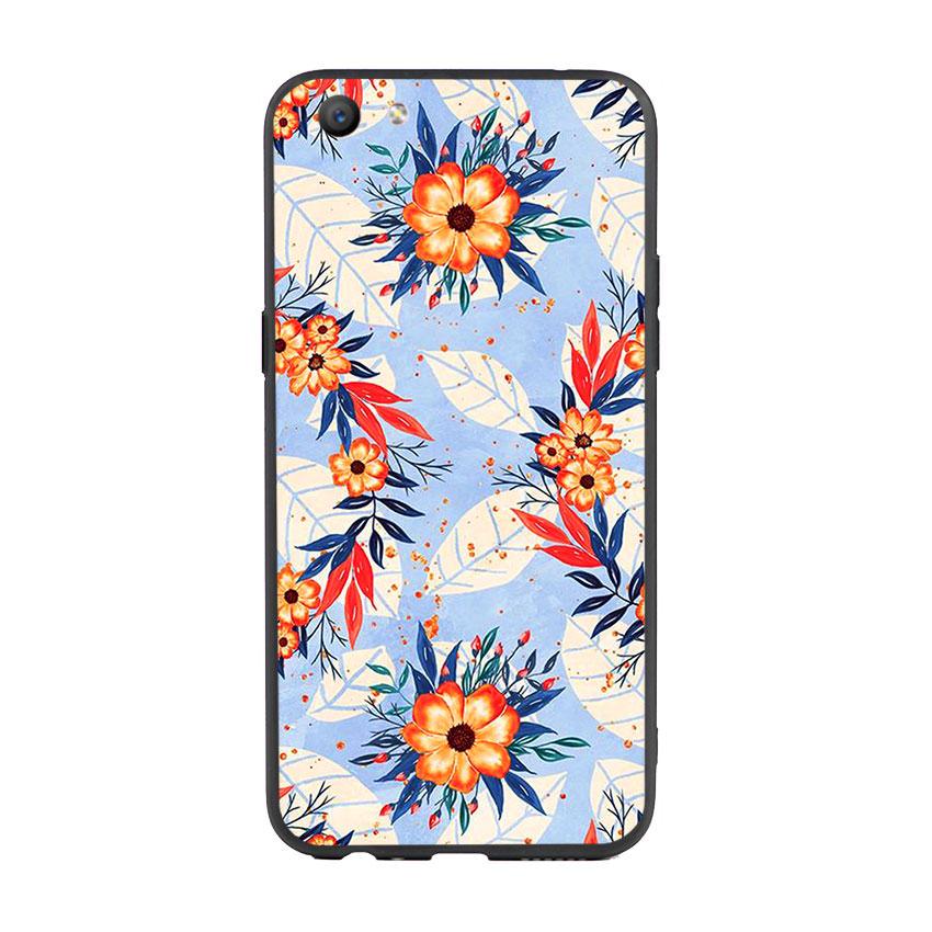 Ốp lưng viền TPU cho điện thoại Oppo F3 - Flower 16
