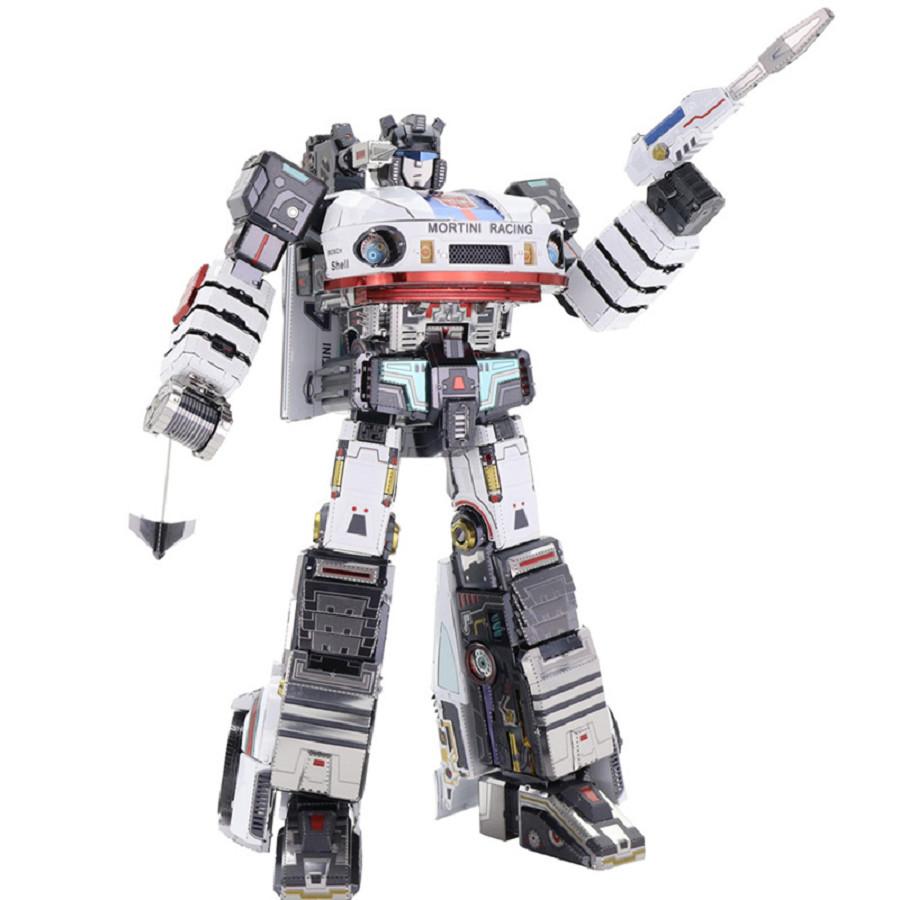 Đồ chơi lắp ghép mô hình kim loại MU Transformers G1 - Jazz