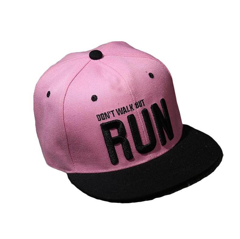Nón mũ snapback lưỡi chai nữ hoa hồng SB35 Run hồng