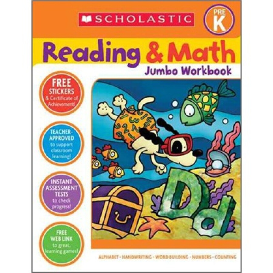 Reading  Math Jumbo Workbook: Grade PreK