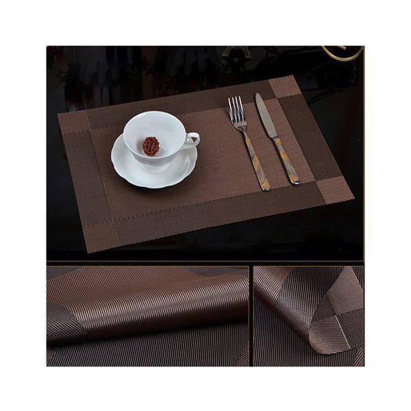 Bộ 4 khăn lót bàn ăn tấm 30x45cm NX109 màu nâu