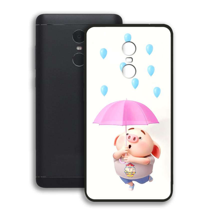 Ốp lưng viền TPU cho điện thoại Xiaomi Redmi Note 4 - 02080 0523 PIG26 - Hàng Chính Hãng