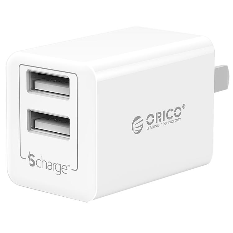Adapter Sạc Điện Thoại Orico USB 2 Cổng 2.4A WHA-2U - Hàng Chính Hãng
