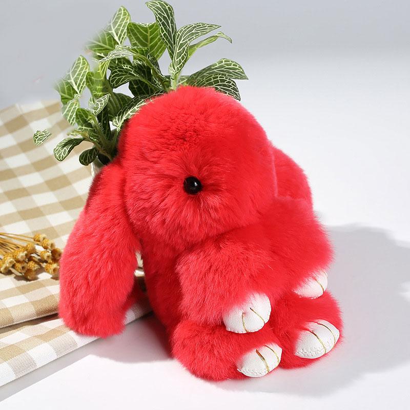 Búp Bê Móc Chìa Khóa Túi Xách Lông Thỏ Hình Thỏ Dễ Thương PomPom