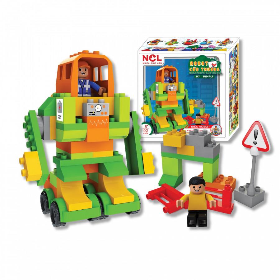 Bộ đồ chơi xếp hình sáng tạo 347 (Lắp Ráp Robot Cứu Thương) - M1747-LR
