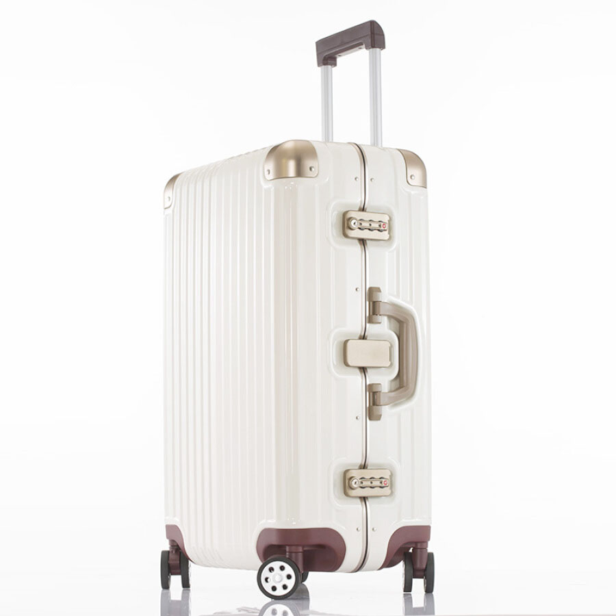 Occa pure PC trolley case 29 inch milk coffee