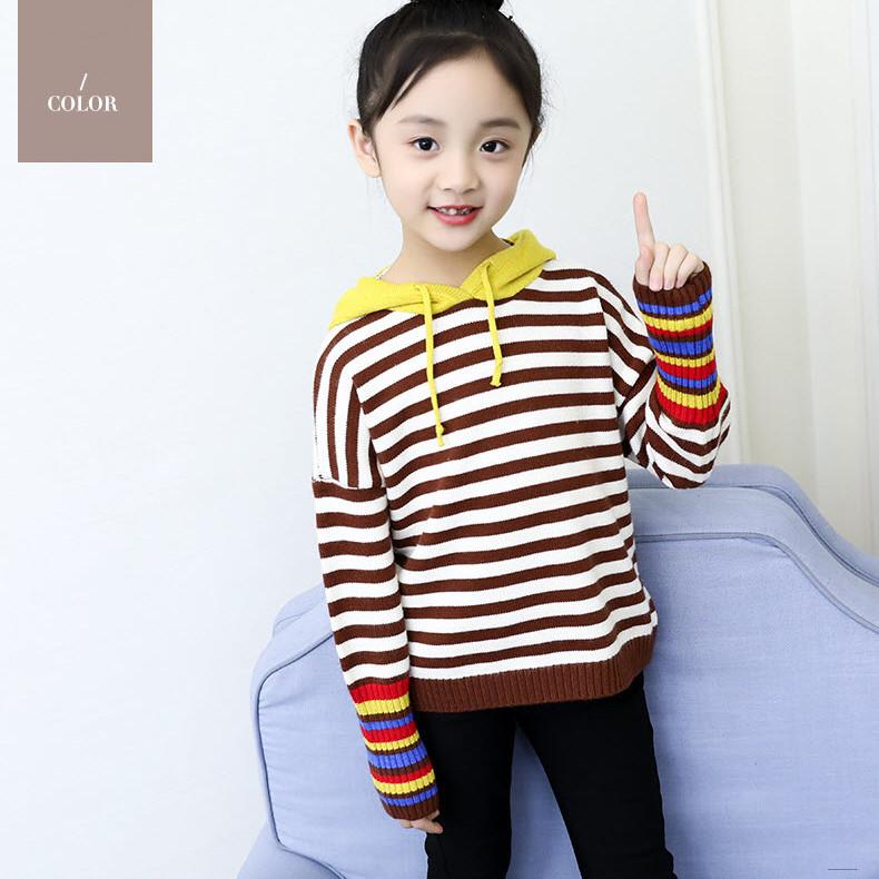 Áo len sọc ngang bé gái cực yêu -TTMS1225