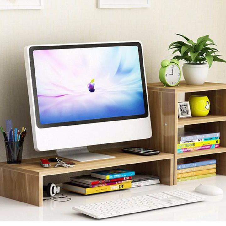 Kệ gỗ để màn hình 2 tầng, có ngăn tủ phụ bên cạnh - 7789968 , 2606442993351 , 62_16335361 , 990000 , Ke-go-de-man-hinh-2-tang-co-ngan-tu-phu-ben-canh-62_16335361 , tiki.vn , Kệ gỗ để màn hình 2 tầng, có ngăn tủ phụ bên cạnh