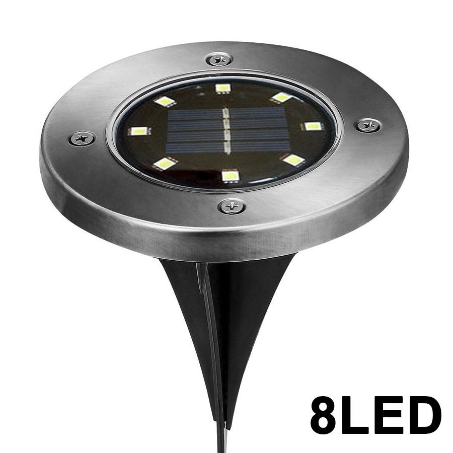 Đĩa 8 Đèn LED Năng Lượng Mặt Trời Trang Trí Vườn