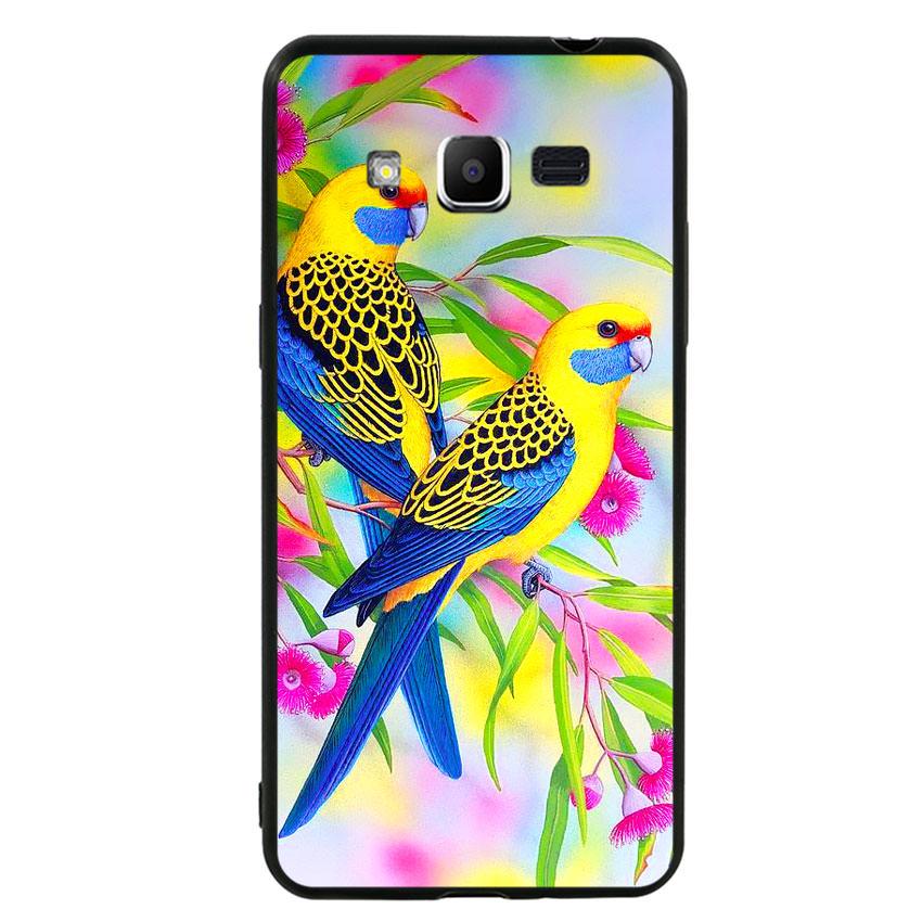 Ốp lưng nhựa cứng viền dẻo TPU cho điện thoại Samsung Galaxy J2 Prime - Couple Bird