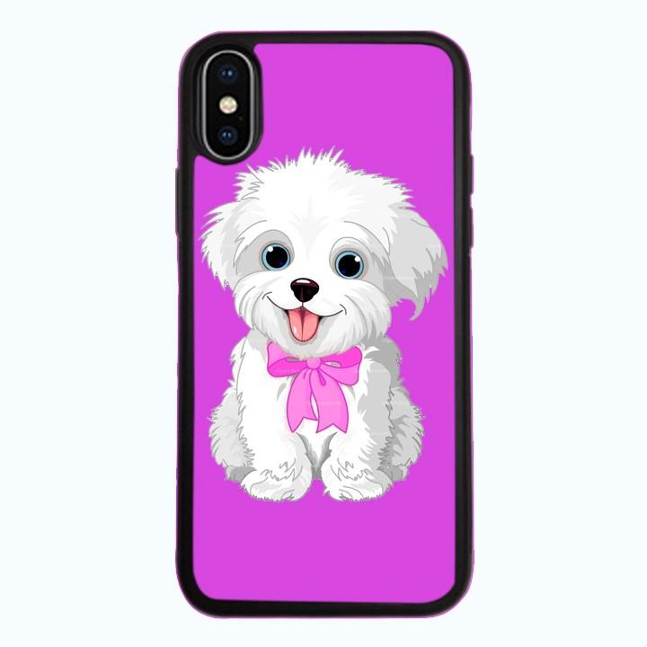 Ốp Lưng Kính Cường Lực Dành Cho Điện Thoại iPhone X Puppy Cute Mẫu 4