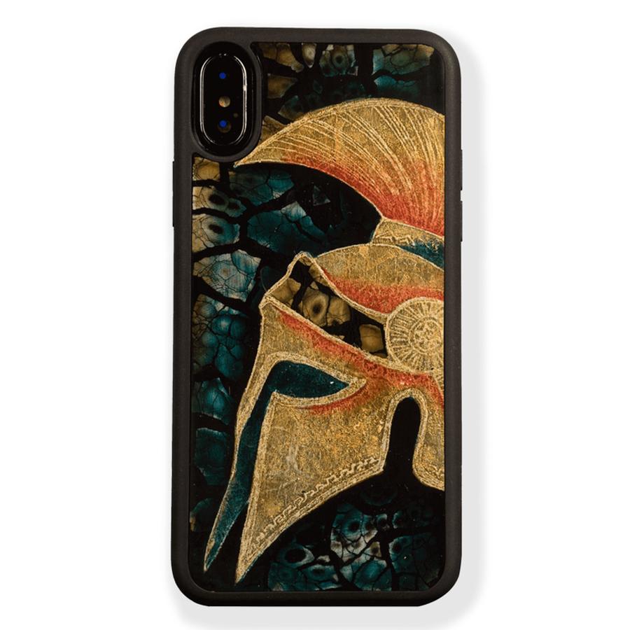 Ốp Lưng Điện Thoại Sơn Mài Mũ Galea Chiến Binh La Mã Dành Cho iPhone XS Max La Sonmai