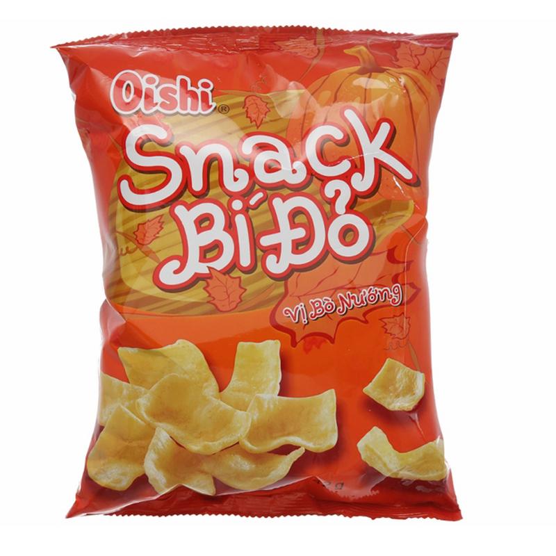 Gói Snack Oishi Bí Đỏ Vị Bò Nướng (42g/Gói) - 1810046 , 9518762261542 , 62_13249214 , 6000 , Goi-Snack-Oishi-Bi-Do-Vi-Bo-Nuong-42g-Goi-62_13249214 , tiki.vn , Gói Snack Oishi Bí Đỏ Vị Bò Nướng (42g/Gói)