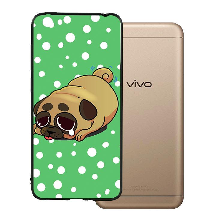 Ốp lưng viền TPU cho Vivo Y55 - Dog Cry 02