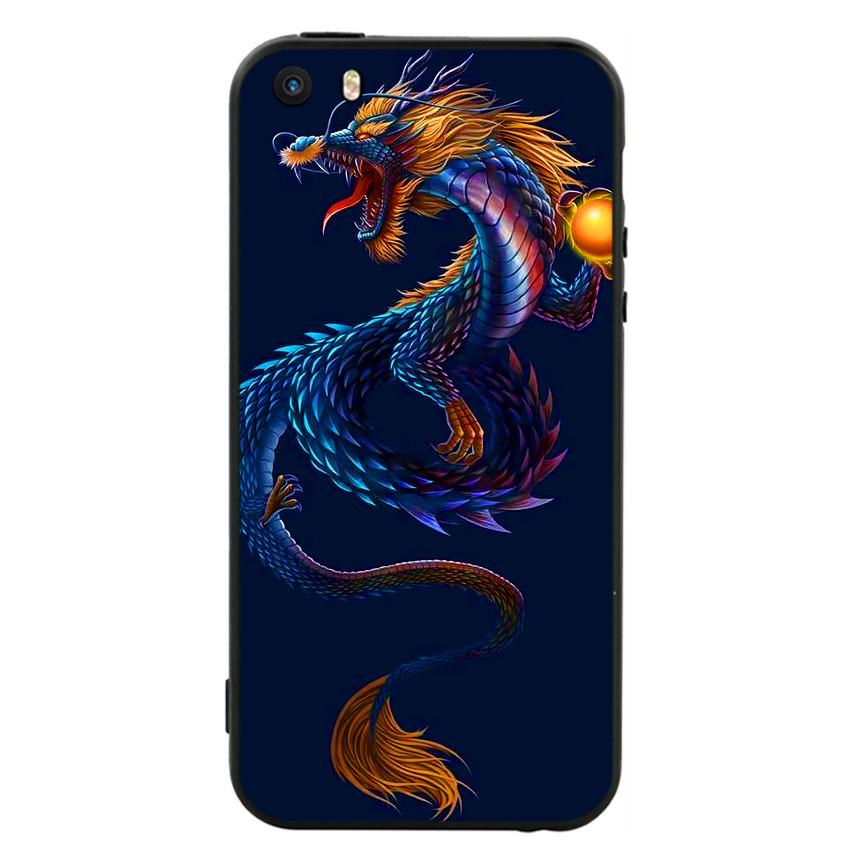 Ốp lưng nhựa cứng viền dẻo TPU cho điện thoại Iphone 5 -Dragon 08