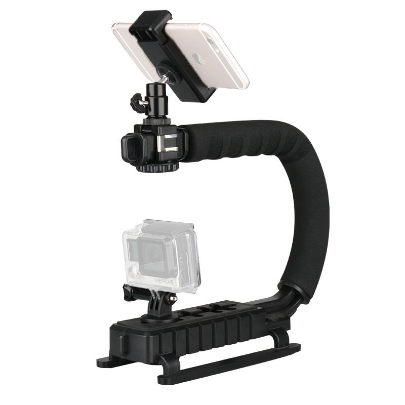 Tay cầm quay phim U-Grip 3 chân hot shoe đa năng - Hàng nhập khẩu